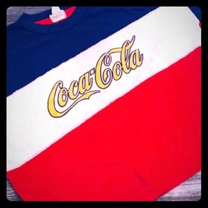Vintage Coca-Cola Tee Large Red, White & Blue USA